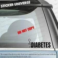 Anti Diabetes Funny Stickman Car Window Decal Bumper Sticker Support Disease 744 3 75 Picclick