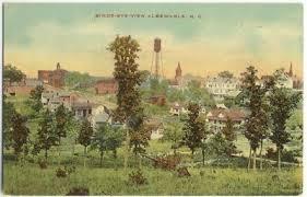 EARLY Albemarle NC North Carolina Postcard #1 Town View | #132953951
