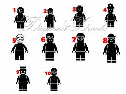 Block People Vinyl Car Decal Stick People Car Decals Size Etsy
