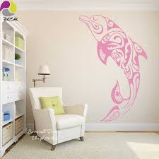 Cute Dolphin Wall Sticker Sofa Bed Cartoon Sea Ocean Fish Animal Wall Decal Nautical Vinyl Diy Easy Removable Wallpaper Poster Dolphin Wall Stickers Wall Stickerwall Decals Aliexpress