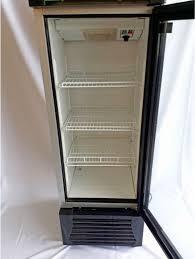small glass door fridge