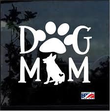 Dog Mom German Shepherd Window Decal Sticker Custom Sticker Shop