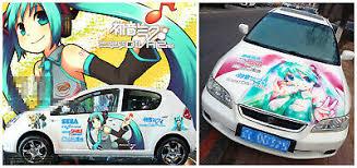 Hatsune Miku Cute Girl Manga Anime Car Door Hood Graphics Decal Vinyl Sticker Ebay