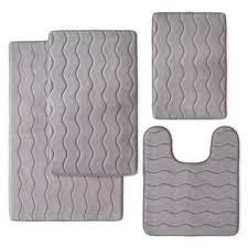 20 x 33 memory foam bath rug contour