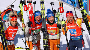 Biathlon World Cup: German women win relay silver – biathlon ...