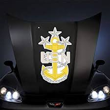 Amazon Com Us Navy Rank Command Master Chief Petty Officer 20 Huge Decal Sticker Automotive