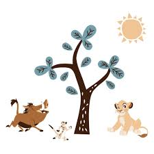 Shop Disney Baby Lion King Adventure Tree With Simba Timon Pumbaa Wall Decals Stickers By Lambs Ivy Overstock 27750677