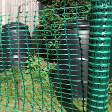 1m X 50m Green Plastic Barrier Mesh Temporary Safety Fence 20 Fencing Pins 8mm For Sale Online Ebay