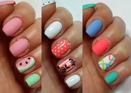 three easy nail art design for short
