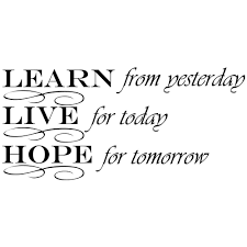 Shop Learn From Yesterday Live Hope Decor Vinyl Wall Decal Quote Sticker Inspiration 15 X 7 Wall Vinyl On Sale Overstock 17998776