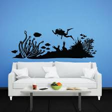 Scuba Diving Wall Decal Removable Sticker Vinyl Decor Art Transfer Nautical Sea Ebay