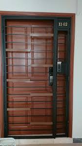 metallic push pull digital door lock
