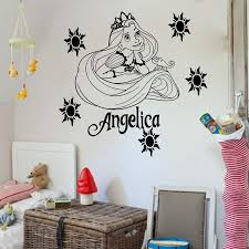 Amazon Com Disney Princess Rapunzel Tangled Home Decor Vinyl Wall Art Sticker Girl S Bedroom Removable Decal 1 Handmade