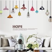 Colorful Chandeliers Creative Lamp Stickers Walls Living Room Sofa Multicolored Lamp Pendant Lamp Large Amazon Co Uk Amazon Co Uk Cuci Easy