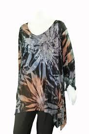Plus Size Ivy Reed Multi Color Tye Dye 2 Pocket Tunic 1215