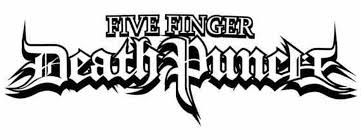 Five Finger Death Punch Text Logo Vinyl Decal Sticker