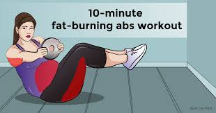 a 10 minute fat burning abs workout