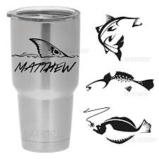 Personalized Vinyl Decal For Yeti Or Other Insulated Mugs Redfish Trout Flounder And Others Handmade Vj0zzbqvj