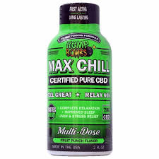 CBD Max Chill Shot | Hemp Bombs