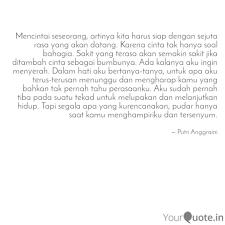 mencintai seseorang arti quotes writings by putri