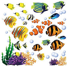 Amazon Com Under The Sea Fish Coral Reef Decorative Peel And Stick Wall Sticker Decals Baby