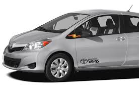Product Toyota Yaris Powered By 2x Side Door Vinyl Body Decal Sticker Graphics