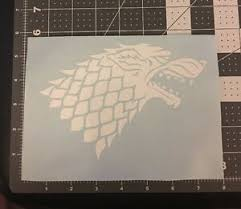 House Stark Sigil Vinyl Decal Sticker Winter Is Coming Dire Wolf For Car Shield Ebay
