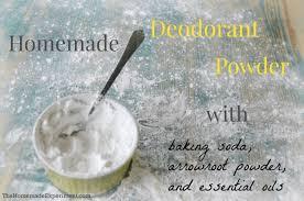 make scented homemade deodorant powder