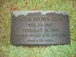 "Adrianna Brown ""Addie"" Peterson Gear (1867-1935) - Find A Grave Memorial"