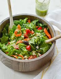 big italian salad with homemade italian