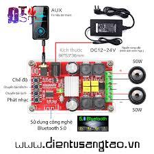 Mạch khuếch đại âm thanh ClassD TPA3116D2 100W Bluetooh 5.0