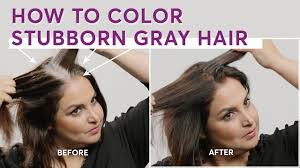 how to color stubborn gray hair you