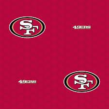 san francisco 49ers logo pattern red