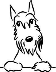 Schnauzer Vinyl Car Decal Sticker In 2020 Schnauzer Art Dog Art Schnauzer