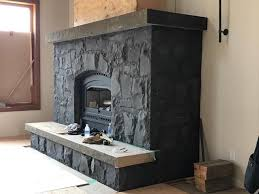 stone fireplace surround bedrock