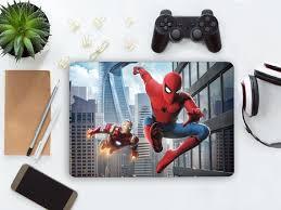 Spider Man Laptop Skin Notebook Marvel Comics Vinyl Decal Dell Etsy