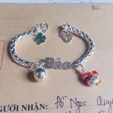 Lắc tay, Lắc chân bạc khắc tên và khắc con giáp cho bé yêu