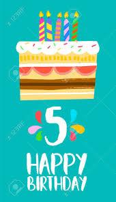 Numero 5 Del Feliz Cumpleanos Tarjeta De Felicitacion Para Cinco