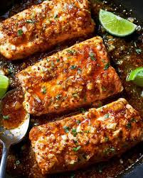 Spicy Honey Garlic Salmon Recipe ...