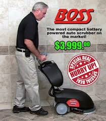 gloss boss auto scrubber floor cleaning
