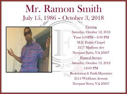 Mr. Ramon Smith Obituary - Visitation & Funeral Information
