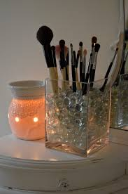 clear gl makeup brush holder saubhaya