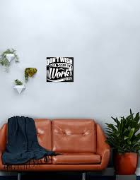 Don T Wish For It Work For It Sports Gym Motivational Metal Print By Nibiruhybrid Redbubble