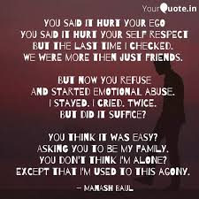 you said it hurt your ego quotes writings by manash baul