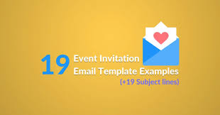 19 event invitation email template