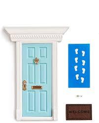 Amazon Com Miniature Enchanted Fairy Door For Kid Room Wooden Toys For Children Little Elf Lil Fairy Door Home Kitchen