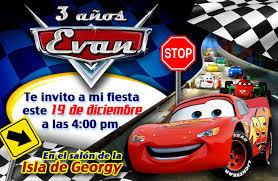 Invitaciones De Cars Cars Invitaciones Cumpleanos Cars Y