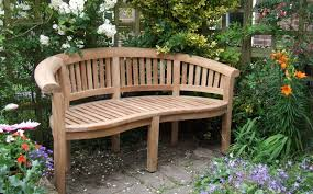 curved teak garden bench bali for