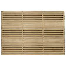 Forest Garden Double Slatted Fence Panel 6 X 4 Ft Multi Packs Wickes Co Uk