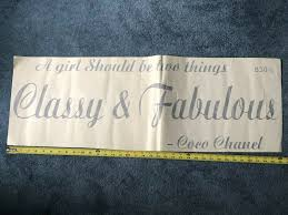 Wall Decal Classy And Fabulous Coco Chanel Sticker Quote Saying Girl Sign J29 For Sale Online Ebay